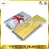 15cm with 1000pcs per bag metallic twist tie for candy cello bags