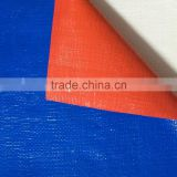 Vinyl coated fabric blue orange waterproof plastic tarpaulin canvas