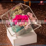 2017 Modern Plexiglass Luxury acrylic rose flower packaging box