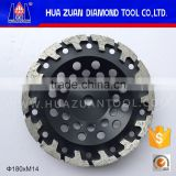 huazuan 100mm Metal Diamond Grinding Cup Wheel for Epoxy Concrete Floor