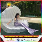 Photography props mermaid SEA SHELL SOFA Swimming Pool Inflatable Floating Lounge Chair shell scallops row of floating chairs