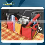 Red Color Polyester Car Trunk Organizer , Foldable Car Seat Bag
