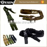 Tactical 2 Points Rifle Sling Padded Adjustable Heavy Duty Quick Detach Stealth Bungee Gun Sling Strap Belt System