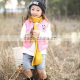 wholesale high quality frozen vests of children fur vest for kids winter vest for babies