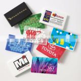 USA Made Rectangle Mint Card - sugar-free, non-melt, available in peppermint or cinnamon and comes with your logo