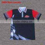 Latest design racing pit crew shirt wholesale