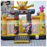 2016 cheap inflatable PVC/TPU bouncy castle inflatable combo at good price