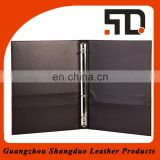 High Quality Cheap Hotel Real Leather Menu Cover with Embossed Logo