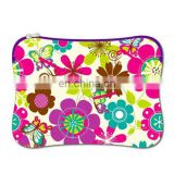 spring flower polychrome neoprene laptop bag