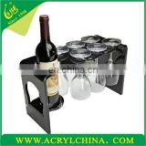 supply acrylic wine glasses bottle rack holder wholesale