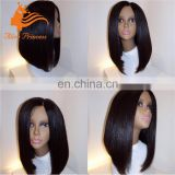 7A Grade Unprocessed Indian Hair Full Lace Bob Wig For Black Women Remy Human Hair Silky Straght Wig In Dubai