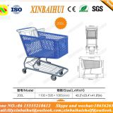 200L plastic shopping cart for shopping mall