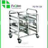 Factory Price High quality metal hotel room service trolleys , cleaning service trolley , rack trolley
