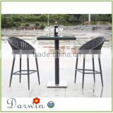 hot sale outdoor tall people furniture rattan bar stool made in china