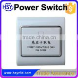 High security hotel room chip card energy saving power switch