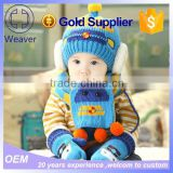 child christmas gift promotion boy/girl warm beanie hat and scarf winter 6-48 months baby lovely knit cap&hat