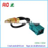"Straight RF Coaxial Assembly CustomizablNeutral Coding Fakra Jack ""Z"" Straight to RCA Jack Adapter Cable"