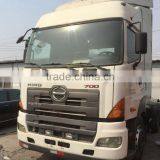 used good condition hino tractor head HINO 700 2011 year in shanghai