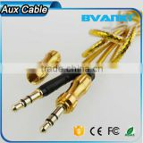 2016 sales promotion cable audio 3.5mm to 3.5 mm male to male extension cable aux cable for car/headphone/PM4/PM3 free samples                                                                                                         Supplier's Choice