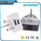 new products 2016 Factory Outlet Wall Charger Travel Charger 10W 5V 2.1A 3 pin Dual Port USB Wall Charger from china suppliers