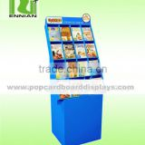 Colorful Promoting Cardboard Pallet Display Stand For Book