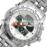 Brand New mensanalog digital wrist watch led watch sport quartz watch WM014-ESS