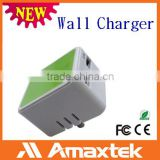 Top Selling Productas 2015 Mini Dual USB Wall Charger for Mible Phone with Reliable and stable supply