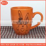 custom coffee cup hot sale Fashion and contracted Ceramic cup Mark cup orange mug