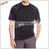 promotional printing your logo 100% Polyester sport custom black men's t shirt for gym