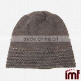 Cashmere Slouchy Baggy Monogram Beanie Knitted Cap Hat