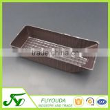 PET disposable customized brown rectangle plastic biscuits box