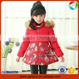 New design 2015 korean style stitching winter coat for children wear child clothes wholesale girl winter jacket kids (ulik-J008)