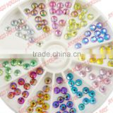 2015 NEW Arrvial 1.5MM/2MM/3MM AB Color 600pcs 12 Colors Nail Art rhinestones Decoration For UV Gel Acrylic Systems