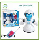 2 Channel Newest cool Remote Control Robot Toys Kids Gift With Light And music
