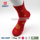 Wholesale Red Custom Women Non Slip Socks