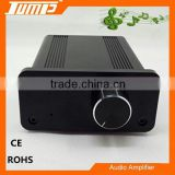Aluminum housing mini Hi Fi 2.0 Channels 2*20W 12V 4A mini audio class d digital amplifier