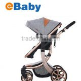 High lanscape with X type frame baby strollers,One key folding baby stroller                                                                         Quality Choice
