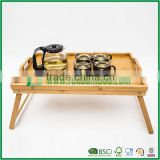 FB1-3006 Bamboo Folding Bed Tray Table and Breakfast Tray tea serving tray                                                                         Quality Choice