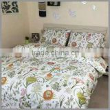 Fashion naturl reactive printed bedding sets /flower printed duvet cover and pillow covers