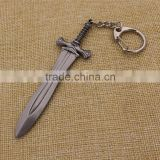 Hot sale fanshion metal sword keychain for letter opener                                                                         Quality Choice