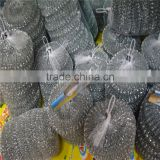 Kitchen galvanized mesh dish scrubber