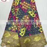 WL3-0627 New good quality ankara lace,wax with lace for party