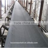 Chemical resistant rubber conveyor belt to transport gypsum plaster or powder