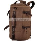 New Men's Vintage Canvas Backpack Rucksack school bag Satchel Hiking bag Free Sample