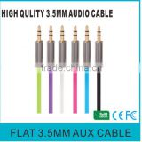High Quality 3.5 mm Male Headphone Connector Aux Audio Cable with Integrated Microphone 1.2 m