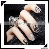 Design 3D Silver Pearl Rhinestone nail art sticker printer and art nail sticker wholesale