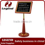 Convenient metal price display board for Hotel