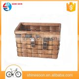 Wood bicycle basket/brown front bike bicycle basket with quick releses