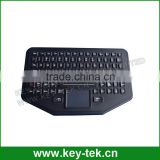 IP68 dynamic sealed & ruggedized silicone industrial keyboard with touch &rubber touchpad