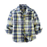 Online Shop China School Boys Autumn Cotton Classical Plaid Poloboys Shirt                                                                         Quality Choice